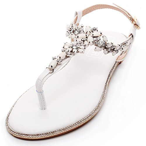 LUXVEER Beach Wedding Shoes,Wedding Flats (BE02)-EU39