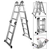 XtremepowerUS Aluminum Multi-Purpose Folding Ladder (12.5' W/ Platform) by XtremepowerUS
