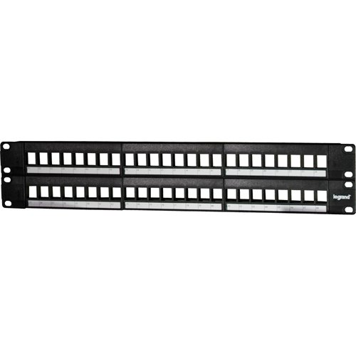 Legrand - On-Q WP48RM 48-Port Blank Keystone Patch Panel