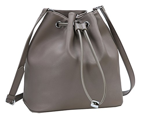 Heshe Leather Shoulder Handbags for Womens Designer Satchel Ladies Purses Totes Work Bag Top-handle Bags Crossbody Bag - Large Leather Drawstring