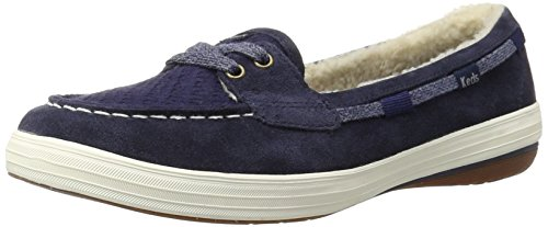 Keds Women's Glimmer Fashion Sneaker, Peacoat Navy Suede, 7 M US