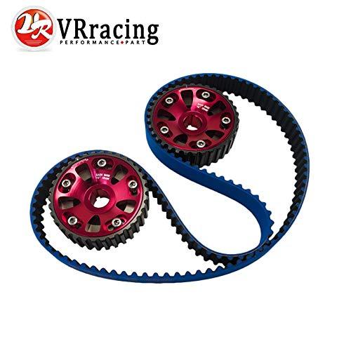 VR - HNBR Racing Timing Belt Blue + Aluminum Cam Gear Red for B16A 99-00 Civic Si 94-97 Del Sol VTEC DOHC VR-TB1001B+6532R ()