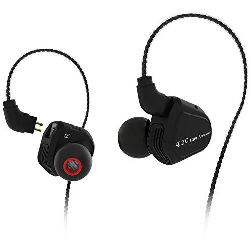 2018 Newest TRN V20 1DD+1BA Hybrid In Ear Earphone HIFI DJ Monito Running Sport Earphone Earplug Headset With 2PIN Detachable Cable (Without Mic, Black) by TRN