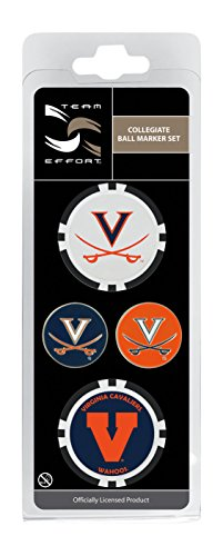 Team Effort Virginia Cavaliers Ball Marker Set (Golf Cavalier)