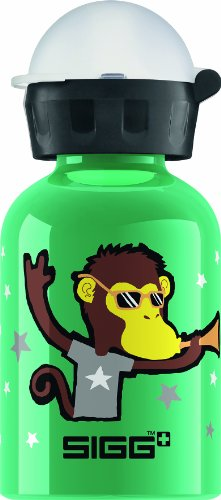 SIGG Go Team Monkey Elephant Water Bottle, Green, 0.3-Liter