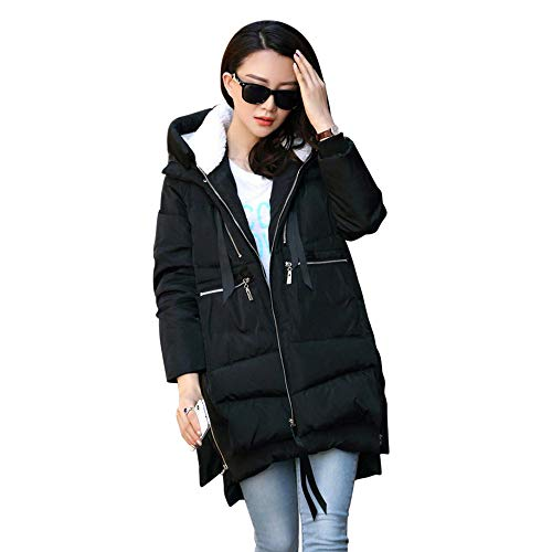 Women's Thickened Down Jacket,Sunyastor Cotton-Padded Coat Oversize Warm Down Parka Puffer Outerwear
