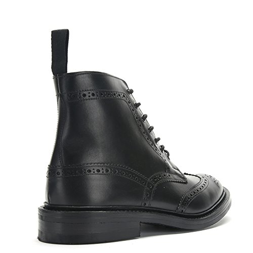 Trickers Botas Brogue De Cuero Para Hombre 5634 Black Calf, Uk 8 / Us 8.5