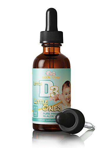 Витамин D3 в каплях для детей (Liddle Ones Little D3 Drops - Vitamin D Drops - Naturally Derived Vitamin D3 Liquid Supplement)