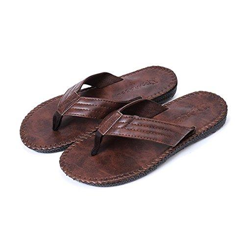 Sandali Pelle da Rosso da Estivi Uomo all'aperto Pantofole semplici da Premium Pantofole in Uomo Spiaggia comode AUVSTAR Sandali estive 4gIqHv