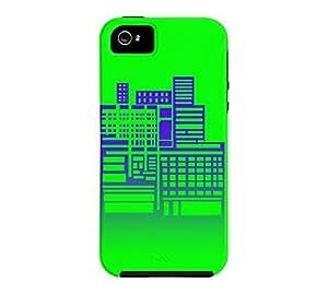 8-Bit City iPhone 5/5s Electric green Tough Phone Case - Design By SHUSHUTOU