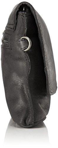 Sansibar Damen Clutch, 5x17x26 cm Schwarz (Black)