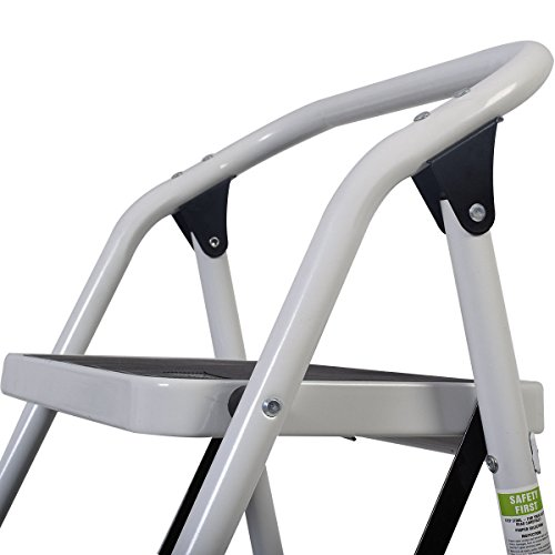 onestops8 Protable 3 Step Ladder Folding Non Slip Safety Tread Heavy Duty Industrial Home by onestops8 (Image #6)