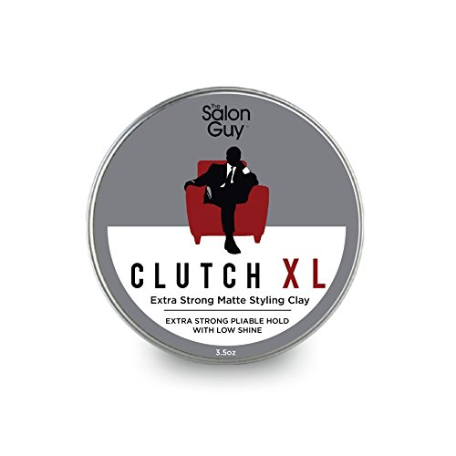 TheSalonGuy CLUTCH XL Extreme Hold Matte Hair Clay 3.5 oz by THESALONGUY