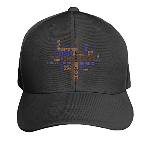 Customized Unisex Trucker Baseball Cap Adjustable Chocolate Cocoa Graphic Peaked Sandwich Hat