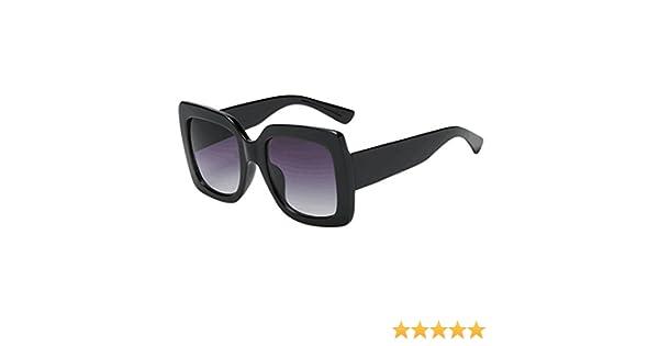LAND-FOX Mujer Moda Marco grande Gafas de sol cuadradas Gafas de sol Marca Sunglass clásica/Clásico Espejo Lentes Brillo UV Portección Polarizado ...