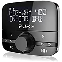 Pure Highway 400 In-Car DAB/DAB+ Audio Adapter with Bluetooth Music, Black