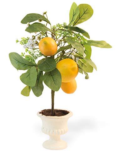 Boston International Lemon Topiary Sunshine Yellow 18 x 10 Acrylic Collectible Figurine