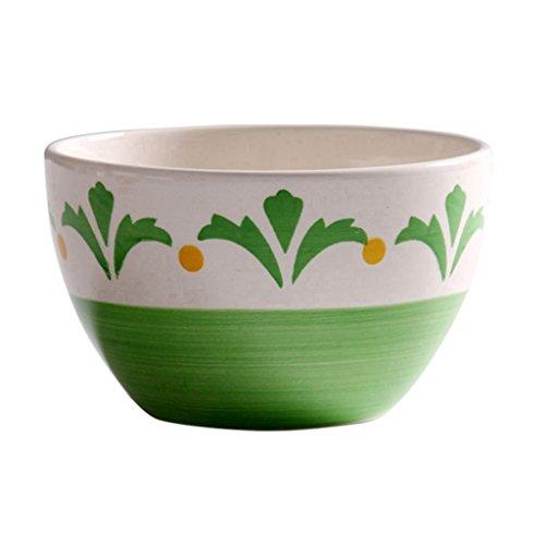 XJRHB Tazón de cerámica Estadounidense Postre tazón pequeño Cuenco de arroz Cuenco de Sopa gachas de Avena Bowl de...