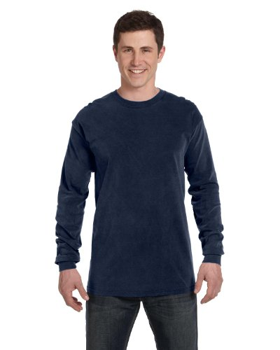 Comfort Colors by Chouinard Long Sleeve T-Shirt, true navy,