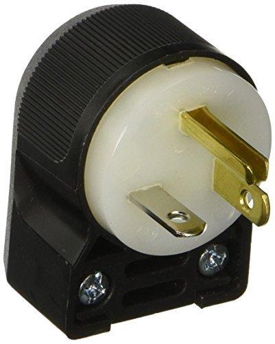 (Hubbell HBL5366CA Plug Angle, 20 amp, 125V, 5-20P, Black/White)