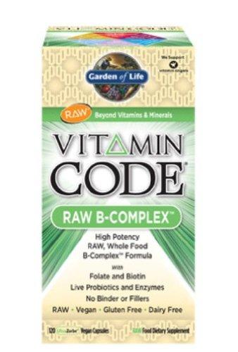 Garden of Life Vitamin Code  - Raw B-Complex, 60 vegan caps  Box