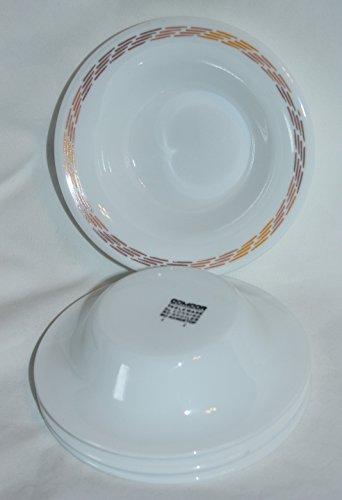 Vintage Corning COMCOR Stripe Tableware Berry Condiment Glass Bowls, Set of 4