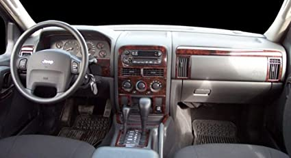 JEEP GRAND CHEROKEE LAREDO LIMITED INTERIOR BURL WOOD DASH TRIM KIT SET  1999 2000 2001 2002