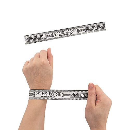 Fun Express - Athens Vbs Cyo Slap Bracelets - Craft Kits - DYO - Paper - Apparel - 24 Pieces ()