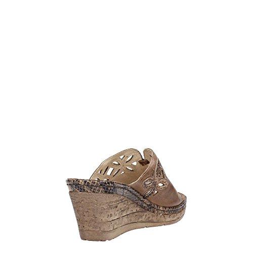 MELLUSO 019042 Fango - Sandalias de vestir de Piel para mujer Fango