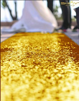 ShinyBeauty Wedding Aisle Runner Customized-Gold,100FTX4FT-CHOOSE Your Size and Color,Sequin Wedding Aisles Runner Personalized ()