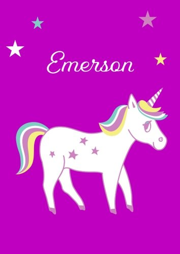 Emerson: Unicorn Notebook / Coloring Book / Diary - DIN A4 - blank