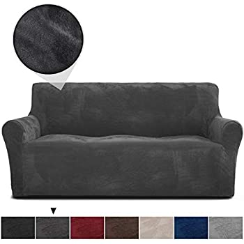 RHF Velvet-Sofa Slipcover, Stretch Couch Covers for 3 Cushion Couch-Couch  Covers for Sofa-Sofa Covers for Living Room,Couch Covers for Dogs, Sofa ...