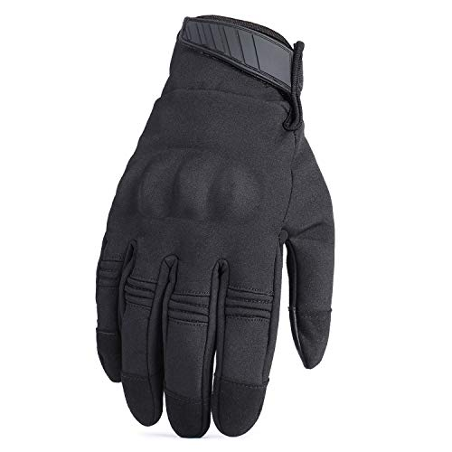 Touch Screen Cold Weather Waterproof Windproof Winter Warmer Fleece Snowboard Bicycle Tactical Hard Knuckle Full Finger ()