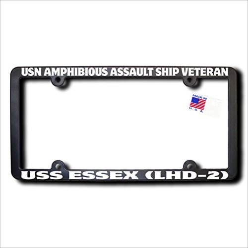 USN Amphibious Assault Ship Veteran USS ESSEX (LHD-2) REFLECTIVE License Frame