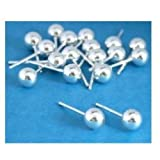18 Sterling Silver Ball Stud Earrings 6mm
