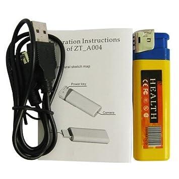MECHERO CÁMARA OCULTA MICRO SD USB 8GB SPY INDICADOR DE 1280 X 960 AUDIO VÍDEO FOTOS: Amazon.es: Electrónica