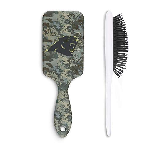 For Football Fans Army Camo Cushion Bristles Pin Hair Brush Paddle Brush Comb Reducing Hair Breakage Adding Shine Mens Womens Kids Girl for Hair Straightening & Smoothing for Wet Dry hair