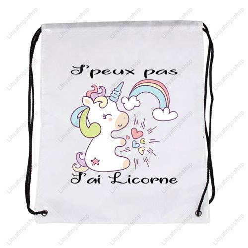 Idée Cadeau Licorne Sac Cordon J'peux pas J'ai Licorne   Idée cadeau   Licorne