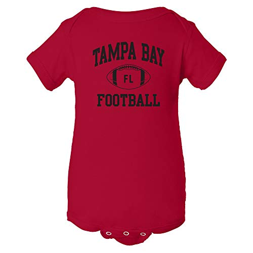 (Tampa Bay Classic Football Arch - American Football Team Sports Infant Onesie - 18 Month - Red)