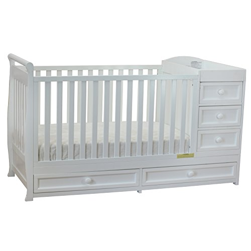 Athena Daphne Convertible Crib and Changer, White - Baby Cribs With Drawer: Amazon.com