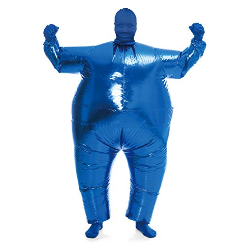 Blue Blow Up Halloween Costume (Spooktacular Creations Inflatable Costume Full Body Suit Halloween Costume Adult Size - Metallic Shiny)