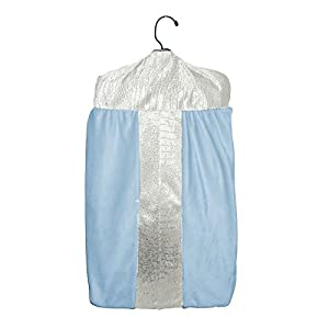 Baby Doll Bedding Croco Minky Diaper Stacker, Ivory/Blue