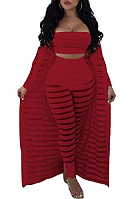 Women's Sexy 2 Pieces Outfit Floral Print Cardigan Cover-Up with Pants Set Bodycon Jumpsuit Rompers