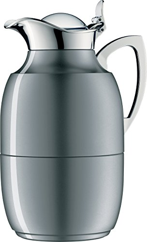 alfi Juwel Glass Vacuum Lacquered Metal Thermal Carafe for Hot and Cold Beverages, 1.0 L, Space Grey by Alfi