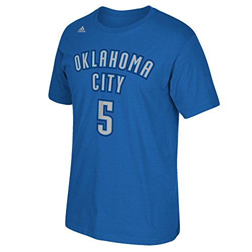 NBA Oklahoma City Thunder Victor Oladipo #5 Men's Game Time Short Sleeve Go-To Tee, X-Large, Blue