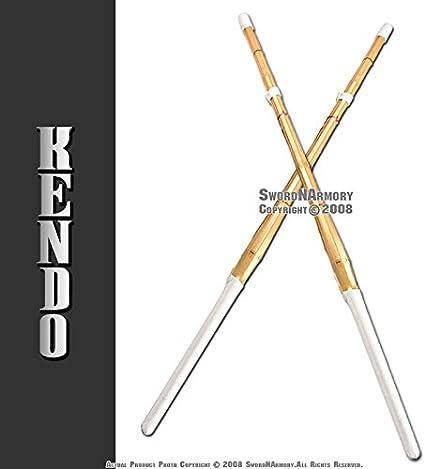 """Set of 2 47/"""" Kendo Shinai Bamboo Practice Sword Katana"""