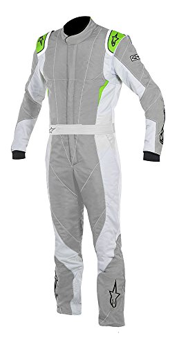ALPINESTARS GP PRO SUIT - MID GRAY/ STEEL GRAY/ GREEN FLUORESCENT - SIZE 60 - SFI 3.2A LEVEL 5/FIA 8856-2000 - 3-LAYER - BOOT-CUT by Alpinestars