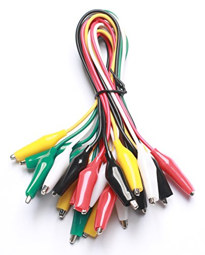 WGGE WG-026 10 Pieces and 5 Colors Test Lead Set & Alligator Clips,20.5 inches (1 -