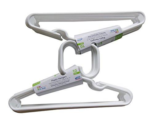 Mainstays 20 Piece Children's Hangers, White