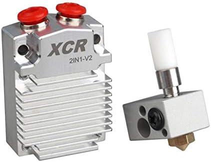 Homyl 1 Pieza Kit Hotend Impresora 3D Parte XCR 2 en 1 V2 Bloque ...